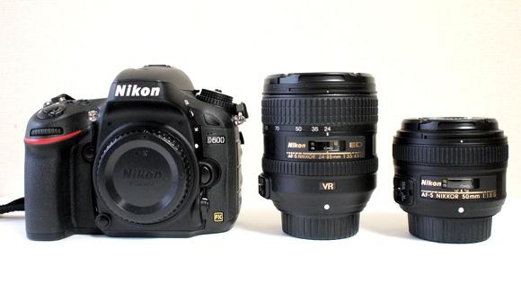 Nikon D600とニッコールレンズ