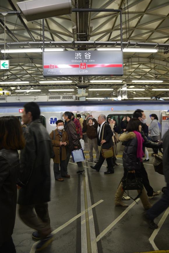 東急東横線「渋谷駅」地上2階駅 最終日(2013年3月15日)