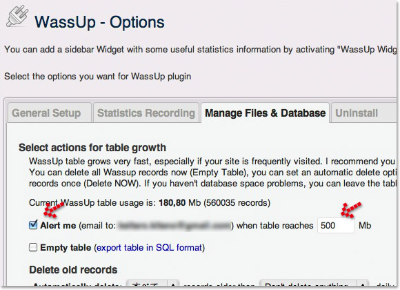 WordPressのアクセス解析プラグインWassUp。