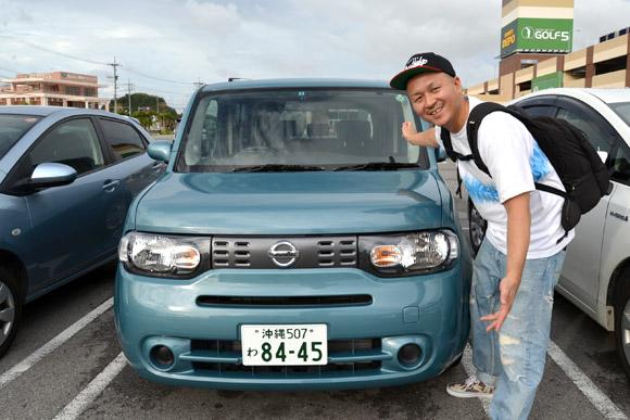 沖縄レンタカー。オリックス。NISSANキューブ。