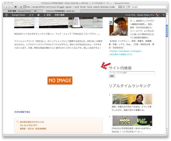 Wordpressプレビュー(画像が出ない!)