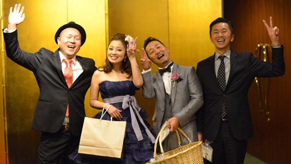 タッカー社長、マユさん、ムラサキさん、キタノ。