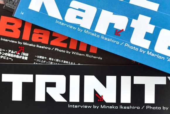 interview by Minako Ikeshiro (Riddim)