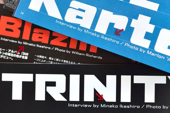 interview by Minako Ikeshiro (Riddim)