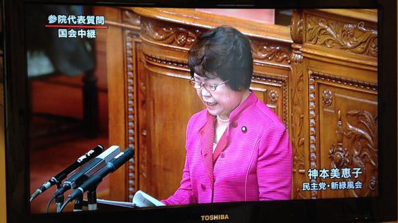 NHK 国会中継(参院代表者質問)