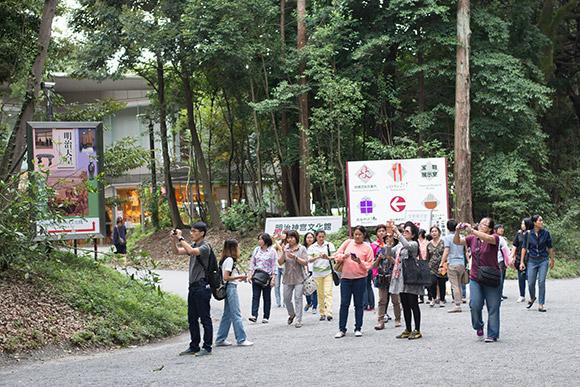 団体の外国人観光客