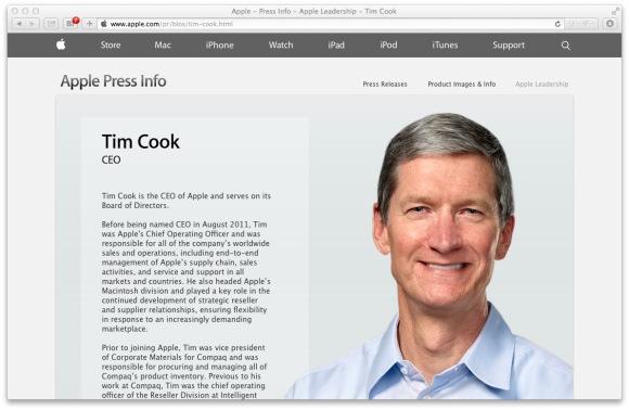 Apple社CEOのティム・クック