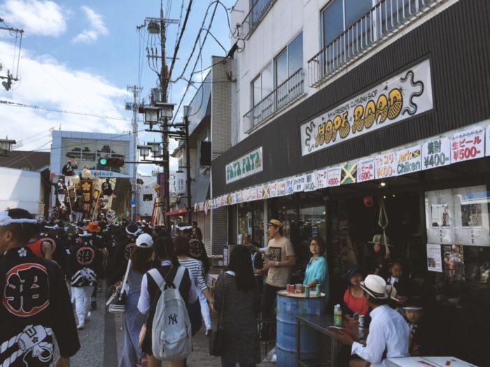 岸和田駅前商店街、だんじり、HOPE RODE