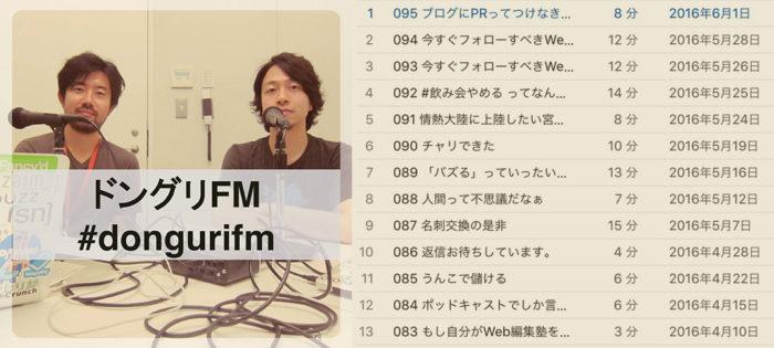 ドングリFM、ゆる〜いのに刺さるポッドキャスト番組。ブロガー、ライター、ウェブメディア関係者は聞くべし!