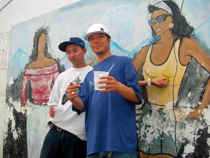 (左)PANCHO (右)ジャマイカでリンクしたJing Teng