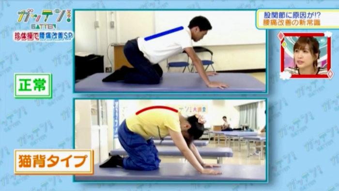 股関節腰痛「四つんばいチェック法」