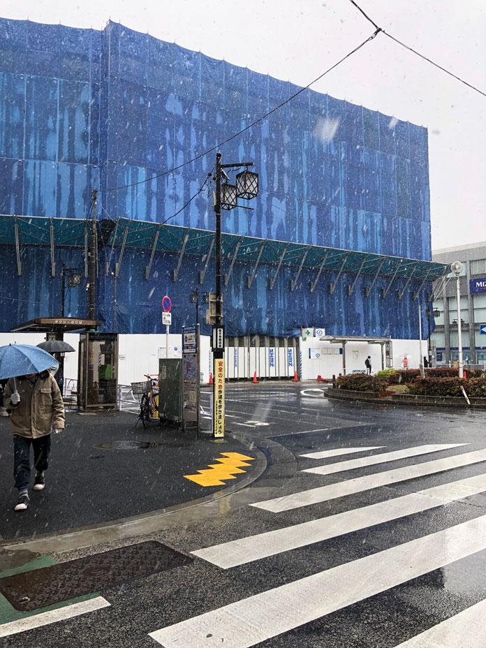 2018年3月21日 工事中の祐天寺駅