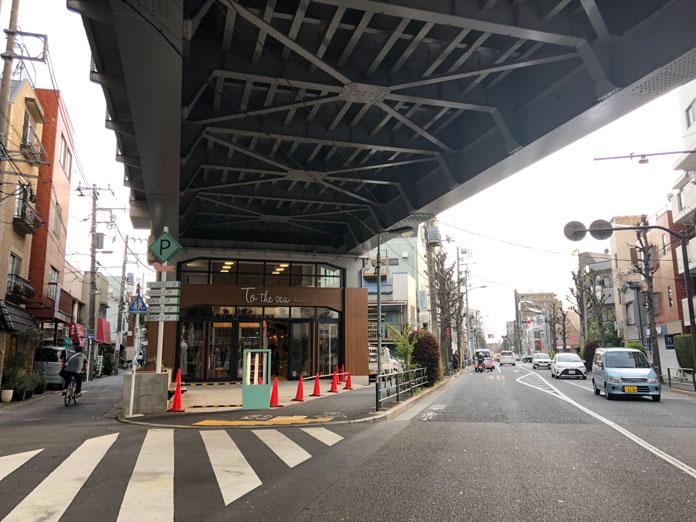 東急東横線の高架下