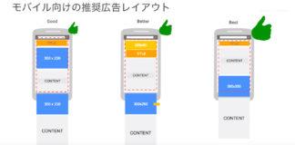 Google AdSense モバイル向け推奨広告レイアウト