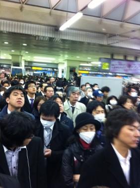 東急東横線「渋谷駅」ホーム