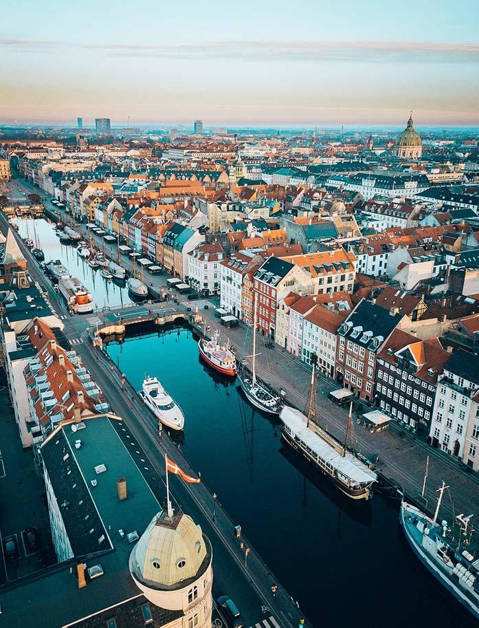 デンマークの首都・コペンハーゲンの街並み